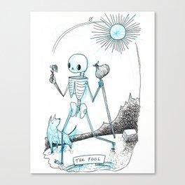 The Fool Skeleton Tarot Canvas Print