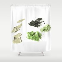 makeup Shower Curtains featuring makeup 02 by VanessaGF