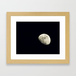 Moon Cheese Framed Art Print
