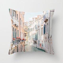 Venice Morning - Italy Travel Photography Throw Pillow