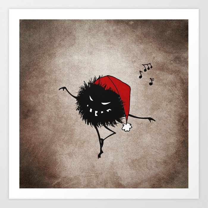 Dark Evil Christmas Bug Art Print
