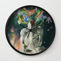 archan nair Wall Clocks featuring Ia:Sija by Archan Nair