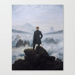 The wanderer above the sea of fog by Caspar David Friedrich Canvas Print