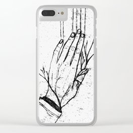 Spring Hand Clear iPhone Case