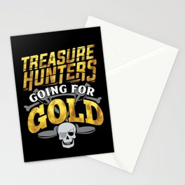 Treasure Hunting Hunters Detectors Geocaching Stationery Cards