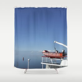 On the ferry Shower Curtain