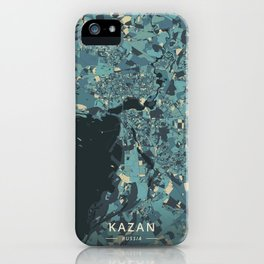 Kazan, Russia - Cream Blue iPhone Case