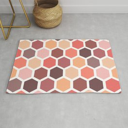 Colorful honeycomb pattern Rug