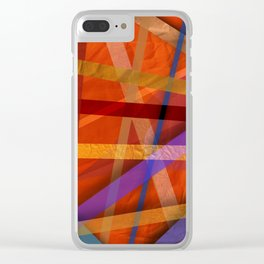 Abstract #366 Clear iPhone Case
