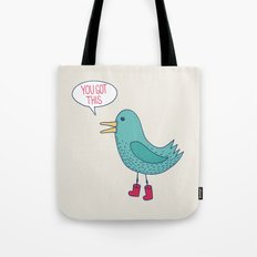Emotional Support Duck Tote Bag