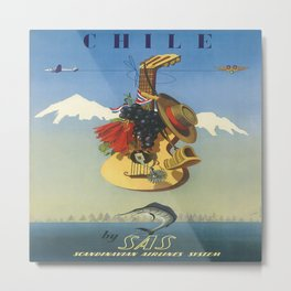 Vintage poster - Chile Metal Print