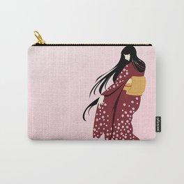 Winter Kimono Carry-All Pouch