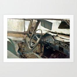 Tired Car. Art Print