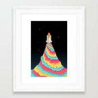 spaceship Framed Art Prints featuring Spaceship by Popsicle Illusion