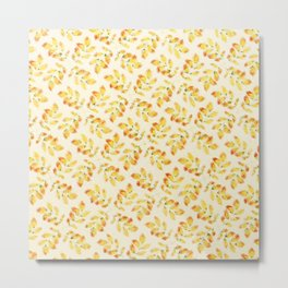 Pattern leaves at Autumn Metal Print