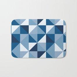 Modern Shades of Blue Bath Mat