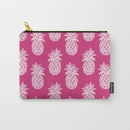 Pink yarrow inspired pineapples Carry-All Pouch