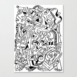 cortex Canvas Print