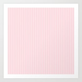 Pale Millennial Pink Pastel Color Mattress Ticking Stripes Art Print