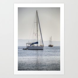The Relaxation Yacht Art Print