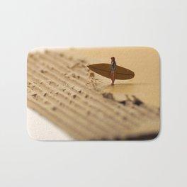 Miniature Surfer Girl Cardboard Bath Mat