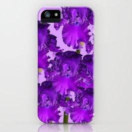 Contemporary Purple Iris Garden Art iPhone Case