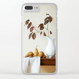 Autumn Tableau Clear iPhone Case