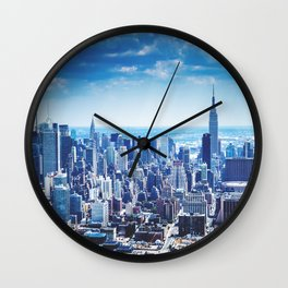 new york aerial view Wall Clock