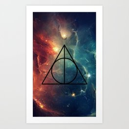 Deathly Hallows Cosmos HP Art Print