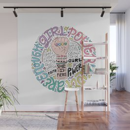 Girl Power Illustration Wall Mural