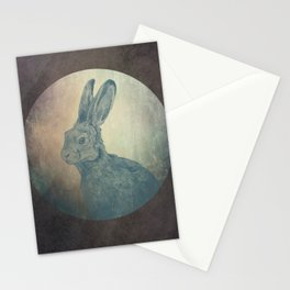 Hare in the Moon Stationery Cards