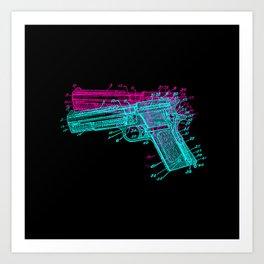 Gun Diagram Art Print