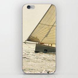 old sailboat in sailrace iPhone Skin