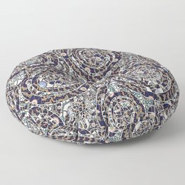 Year of the Snake mosaic Floor Pillow