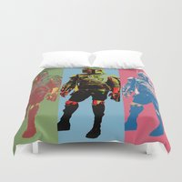 boba Duvet Covers featuring Boba Warhol by Hooligan 77