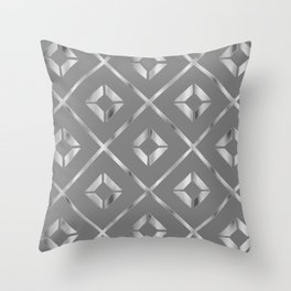 sterling silver prism Throw Pillow