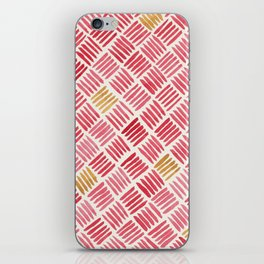 Red and Ochre Basketweave iPhone Skin