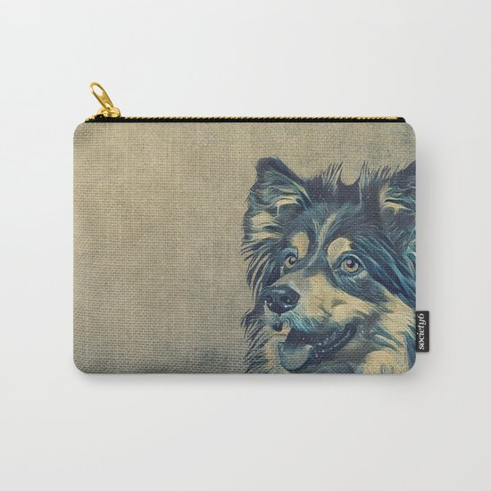 Shetland Sheepdog Painting Carry-All Pouch