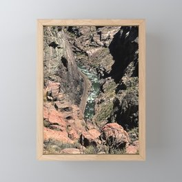 Holding on tight at Royal Gorge Framed Mini Art Print