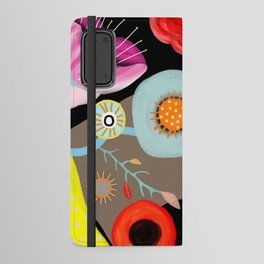 Floral Black Meadow London Android Wallet Case