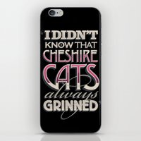 cheshire iPhone & iPod Skins featuring Cheshire Cats by Tom Davie