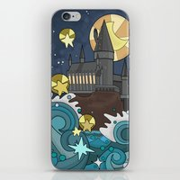 hogwarts iPhone & iPod Skins featuring Hogwarts by Lacey Simpson