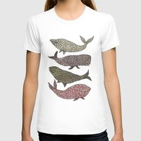 whales T-shirts featuring Whales by Saara Kaa