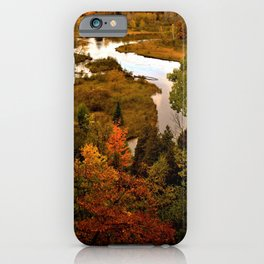 Manistee River in the Fall iPhone Case