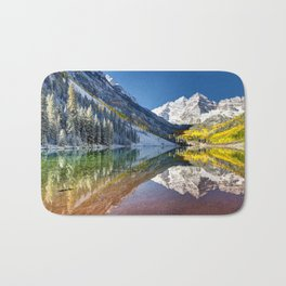 Maroon Bells Colorado Bath Mat
