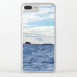 By the Frozen Sea Clear iPhone Case