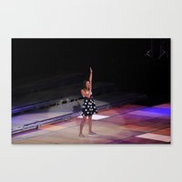 glee Canvas Prints featuring Glee Concert: Lea Michele by Jackie Lalumandier