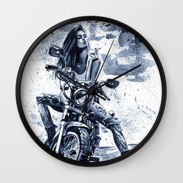 Biker Girl Wall Clock