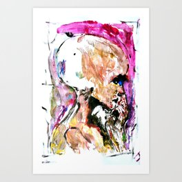 Abstract 96 - Alien Head Art Print