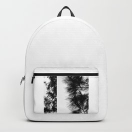 Mediterranean black and white pine tree Backpack